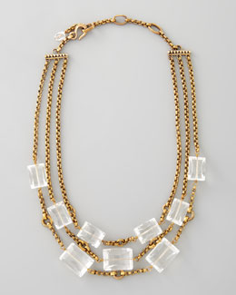 Stephen Dweck Three-Strand Rock Crystal Necklace