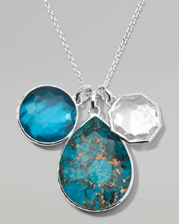 Ippolita Wonderland Triple-Pendant Necklace