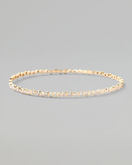 Ippolita Stardust 18k Gold Diamond Starlet Bangle