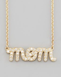 Sydney Evan Diamond Mom Pendant Necklace