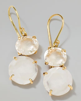 Ippolita 18k Gold Rock Candy Gelato Oval Small Snowman Earrings