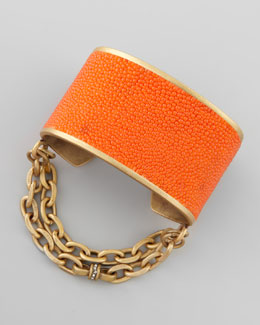 Paige Novick Natalie Stingray Cuff, Orange