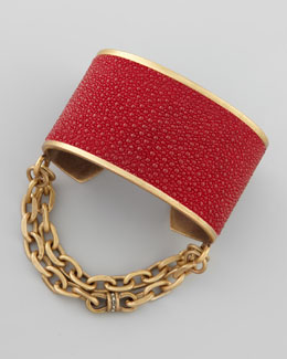 Paige Novick Natalie Stingray Cuff, Red