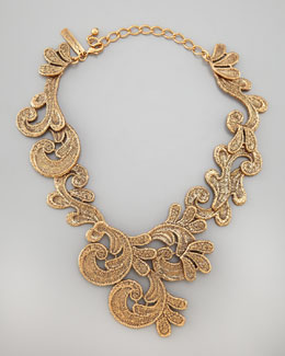 Oscar de la Renta Cast Lace Necklace