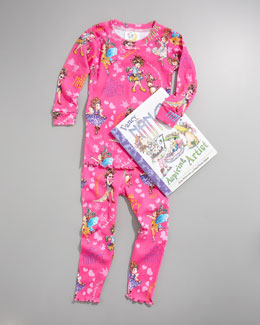 Books To Bed Fancy Nancy Pajama and Book Set, Infant