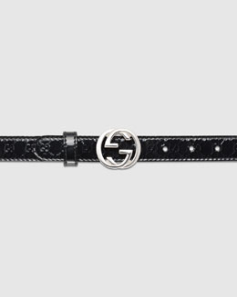 Gucci Adjustable Belt with Interlocking G Buckle