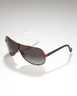 Gucci Children's Metal-Rimmed Shield Sunglasses