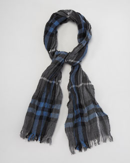 Burberry Crinkled Exploded Check Scarf