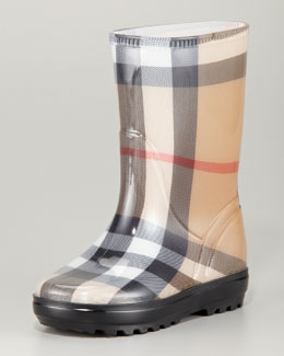 Burberry Check Rain Boots 27-36, House Check