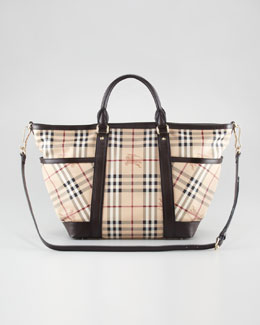 Burberry Check Diaper Tote Bag