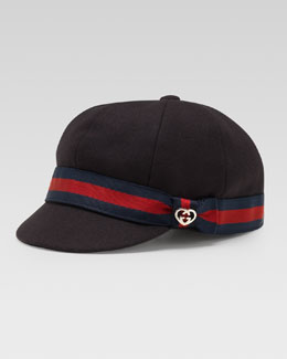 Gucci Wool Web-Trim Hat