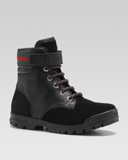 Gucci Trento Hiking Boot, Nero