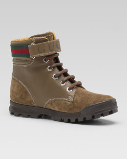 Gucci Trento Hiking Boot, Brown