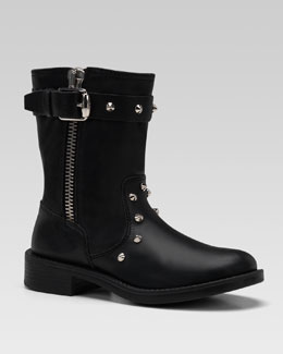 Gucci Studded Leather Boots