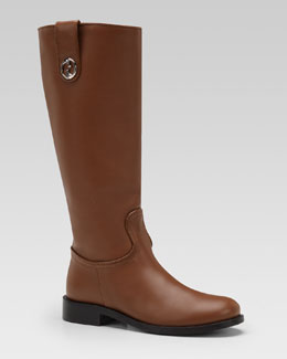 Gucci Leather Riding Boot, Cuir