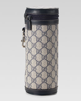 Gucci GG Insulated Bottle Carrier, Beige/Navy