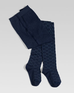 Gucci Reggie GG Jacquard Tights, Sizes 6-10