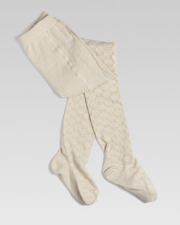 Gucci Baby Reggie GG Jacquard Tights, Sizes 6-10