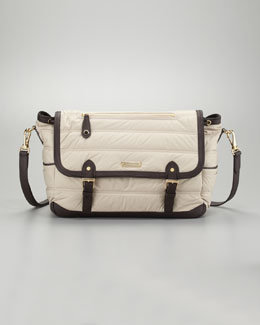 Burberry Messenger Diaper Bag, Trench