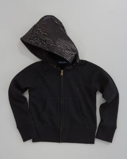 Ralph Lauren Childrenswear Sequined Zip Hoodie, Black