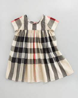 Burberry Voile Check Dress