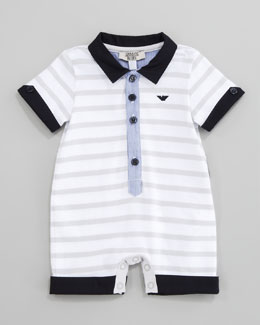 Armani Junior Striped Knit Playsuit