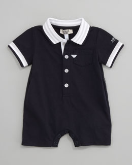 Armani Junior Solid Knit Playsuit