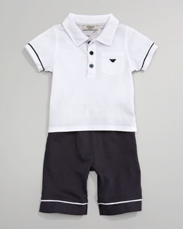 Armani Junior Polo & Short Set