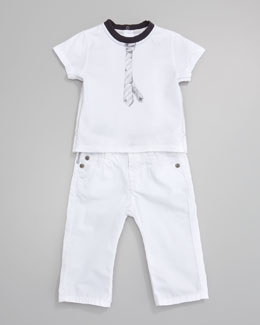 Armani Junior White Jeans