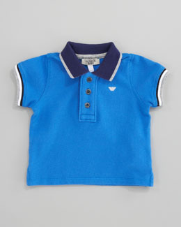 Armani Junior Contrast-Trim Polo Shirt
