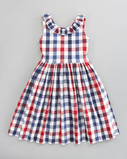Oscar de la Renta Check Party Dress