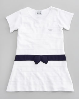Armani Junior Knit Ruffle-Skirt Dress