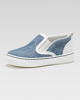 Gucci Board GG Denim Slip-On Sneaker, Toddler Sizes