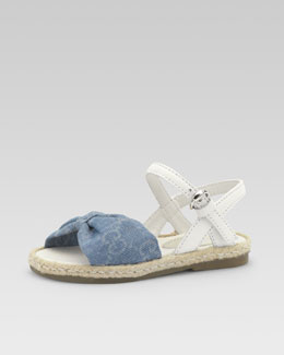 Gucci Girls' GG Denim Espadrille Sandal, Toddler Sizes