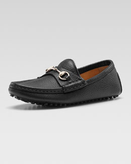 Gucci Damo Leather Driving Loafer, Black