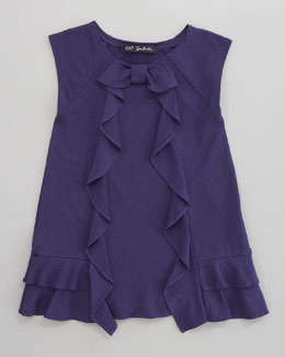 Lili Gaufrette Laurore Jersey Ruffle Dress