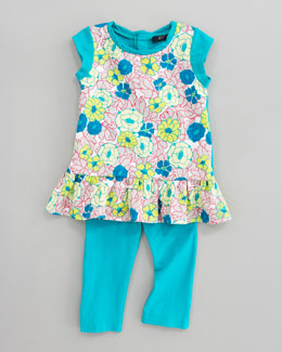 Lili Gaufrette Laddition Floral Tunic & Leggings Set