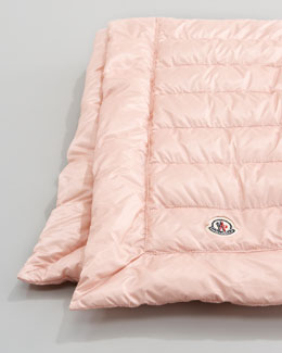 Moncler Packable Quilted Blanket, Light Pink