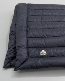 Moncler Packable Quilted Blanket,  Navy