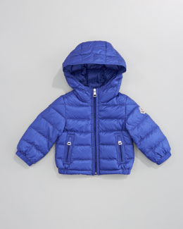 Moncler Dominic Detachable-Hood Jacket, Royal