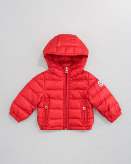 Moncler Dominic Hood Jacket, Red
