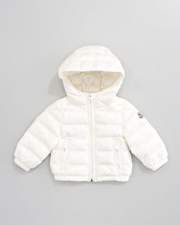 Moncler Dominic Hood Jacket, Cream
