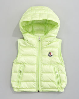 Moncler Patrick Detachable-Hood Vest, Light Green