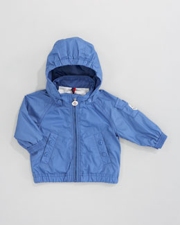 Moncler Coquet Classic Hooded Windbreaker, Bright Blue