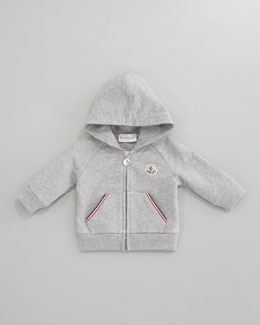 Moncler Hooded Zip-Front Sweatshirt