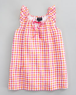 Oscar de la Renta Bright Check Dress