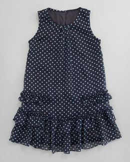 David Charles Dotted Chiffon A-Line Dress