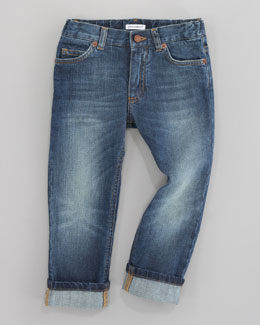 Dolce & Gabbana Dark Denim Five-Pocket Jeans, Sizes 4-6