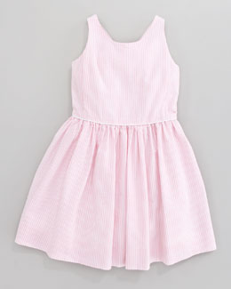 Ralph Lauren Childrenswear Bow-Back Seersucker Dress