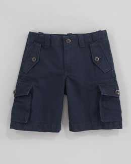 Ralph Lauren Childrenswear Canadian Aviator Navy Cargo Shorts, Sizes 2-7
